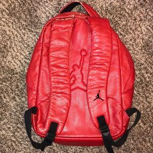3f3f856e9b9d30 Jordan Bags - Jordan Jumpman Premium Red Leather Backpack 🎒